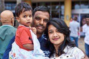 Leena Arjun, Vishal Arjun, Viyan Arjun