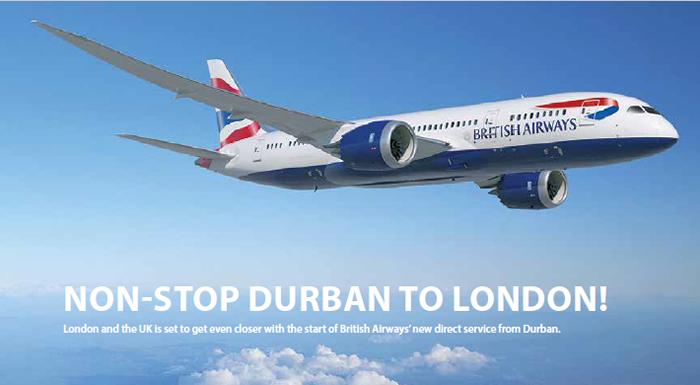 Non-Stop Durban to London!